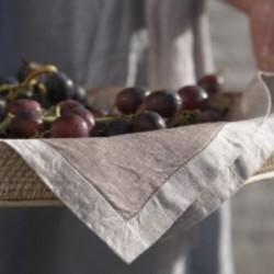 Serviette lin uni Frascati