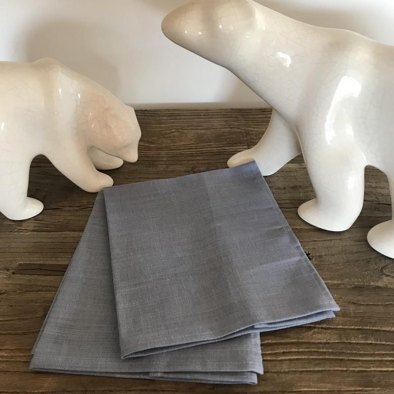 Serviette de table lin et polyester libeco - Serviette table lin ...