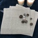 Serviette lin coton lurex Pépite L comme lin