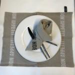 Serviette de table lin lavé Bon Appétit L comme lin