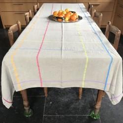 Nappe lin rayures Rainbow