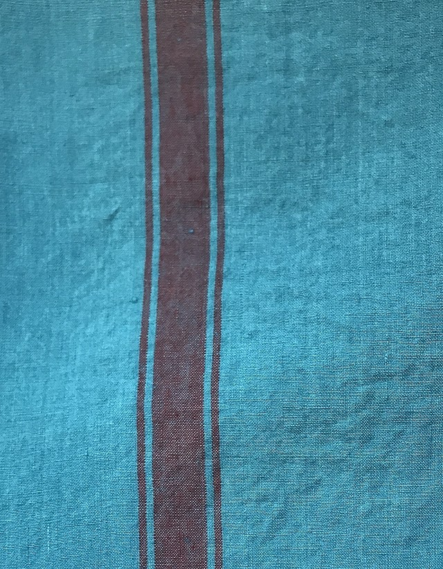 Bleu Turquoise / lie de vin