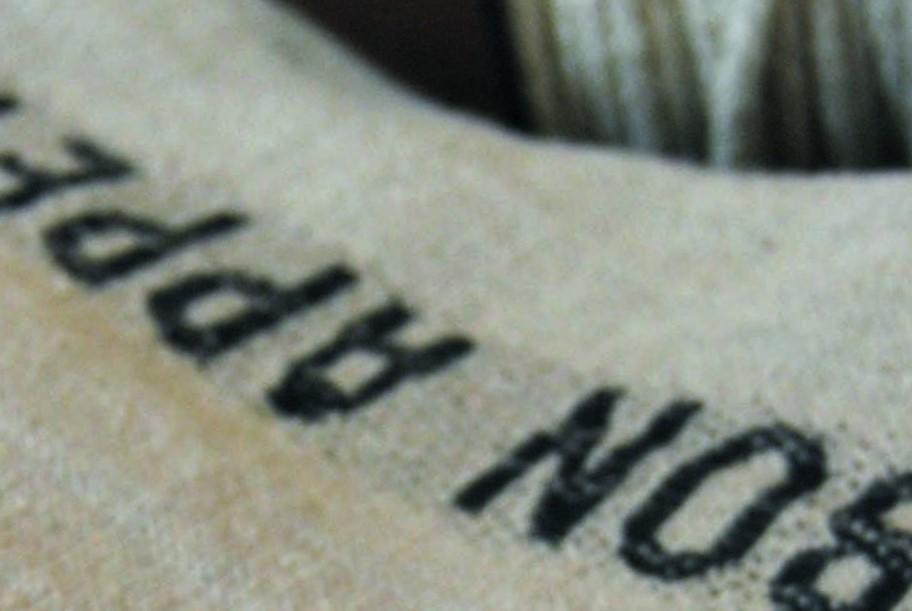 Beige Lin écriture noire