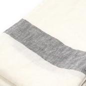 Blanc rayures gris chambray