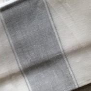 Blanc rayure grise