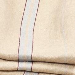 Beige stripe gris/ bordeaux