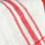Blanc rayures rouges